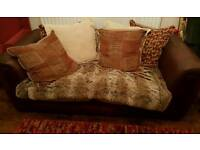 A Genuine Leather Sofa/Material Backing & Cushions