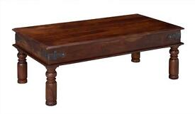 Large real wood coffee table