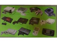 Wanted retro gaming consoles and games