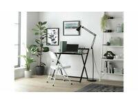 Habitat Compact Folding Office Desk - Black A