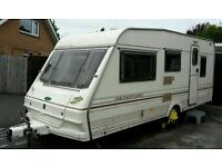 97 Abbey stafford 5 berth caravan and awning