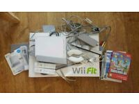 Nintendo Wii, Wii Fit, game and accessory bundle - OPEN TO OFFERS