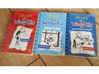3 x paperback books Diary of the Wimpy kid