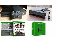 Xbox One with Kinect 500 GB Black Console with F1 2015 & Headset
