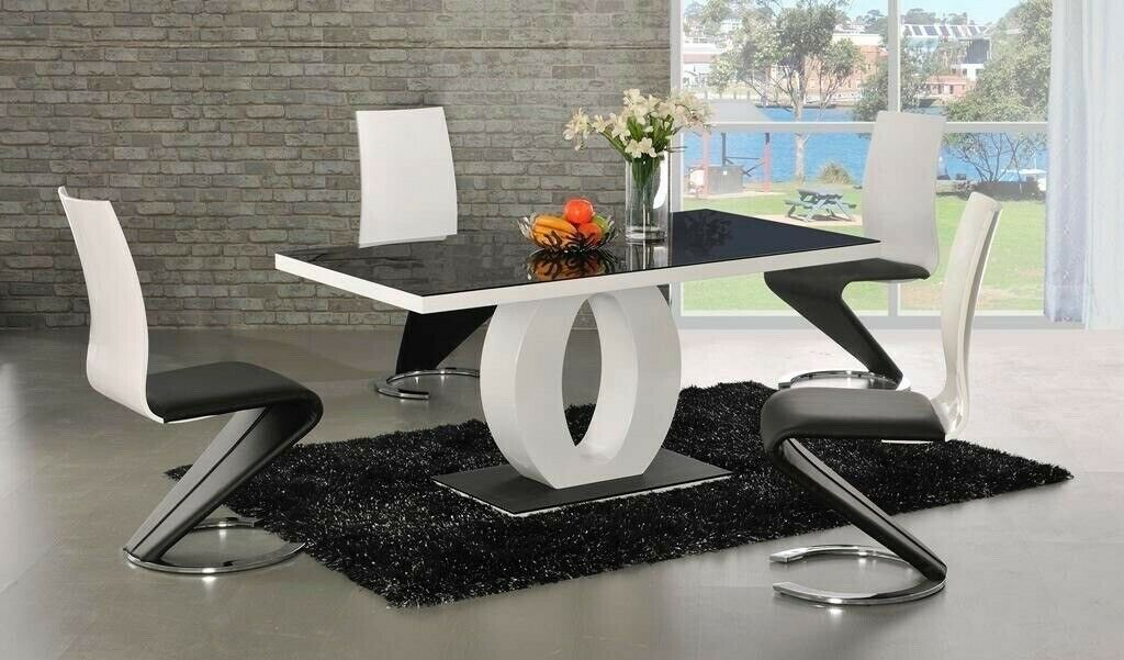 Fantastic Luxury Designer Black White Gloss Dining Table 6 Chairs In Solihull West Midlands Gumtree Caraccident5 Cool Chair Designs And Ideas Caraccident5Info
