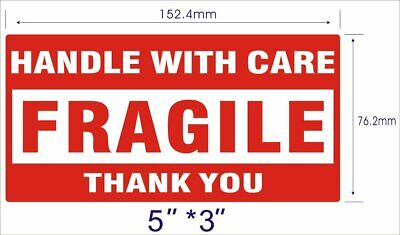 2 Rolls 500roll 3x5 Fragile Shipping Labelsstickers Handle With Care Thank You