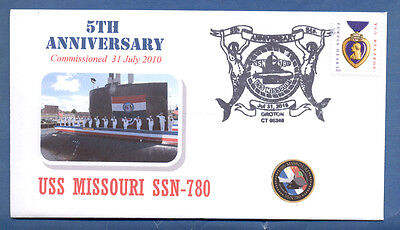 GREYTCOVERS NAVAL COVER USS MISSOURI SSN-780 5TH ANNIVERSARY OF COMM