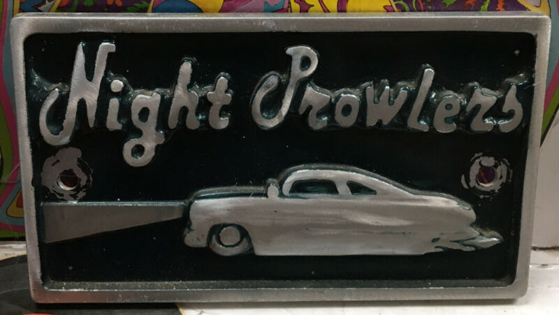 Night Prowlers Car Club Plaque