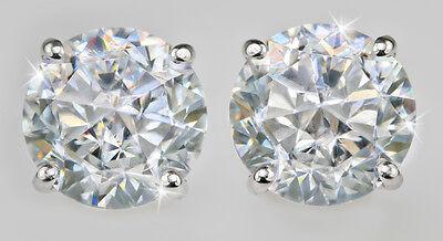 1ct tw Screw Back Earrings Top CZ Moissanite Simulant Screwbacks Sterling Silver