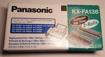 Panasonic Printer  KX-FA136 Black Fax Refill Roll  Only 1 Roll left in the box.