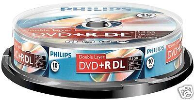 Philips DVD+R DL 8.5 GB, 8x Speed, Spindle 10 Stück