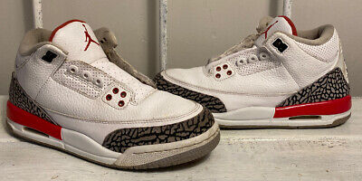 JORDAN 3 KATRINA KIDS YOUTH SIZE 6Y BASKETBALL SNEAKERS SHOES CEMENT 88
