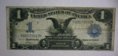 "1899 $1 ONE DOLLAR ""BLACK EAGLE"" NOTE SILVER CERTIFICATE CURRENCY"