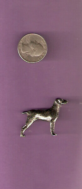 Weimaraner Weim Nickel Silver Brooch Pin Jewelry*