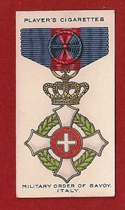 The-MILITARY-ORDER-of-SAVOY-ITALY-Italian-War-Medal-1927-original-card