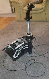 Flightsim Controllers Rudder pedals and Joystick
