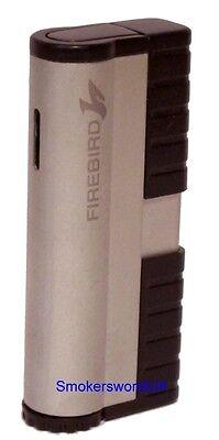 Cigarette Lighter - Colibri Firebird Storm Silver NEW Jet Flame