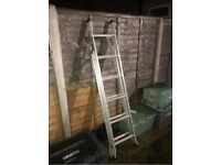 10 foot extending aluminium ladder