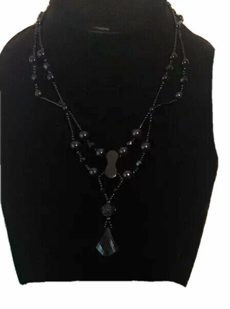 """Antique Victorian Whitby Jet """"Mourning Necklace """" Victorian Mourning Jewelry"""