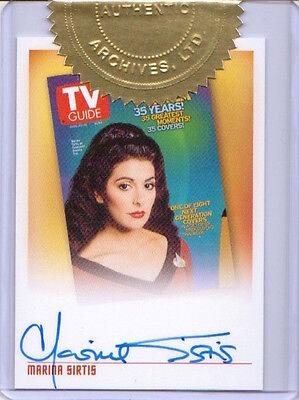 Quotable Star Trek TNG AUTOGRAPH TVA1 Marina Sirtis Deanna Troi 2 CASE INCENTIVE