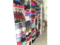 Wool, Haberdashery & Craft Shop Stock and Fittings for Sale