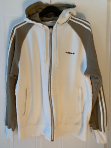 Great Condition- ADIDAS Full Zip Hoodie (White)