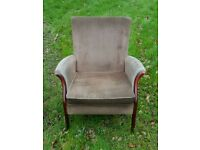 Parker knoll style easy chair with side arms