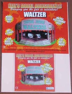 Fairground Waltzer Ride Model Card Kit on PDF Disc + A4 Card