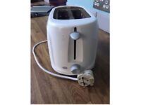 White toaster, good condition
