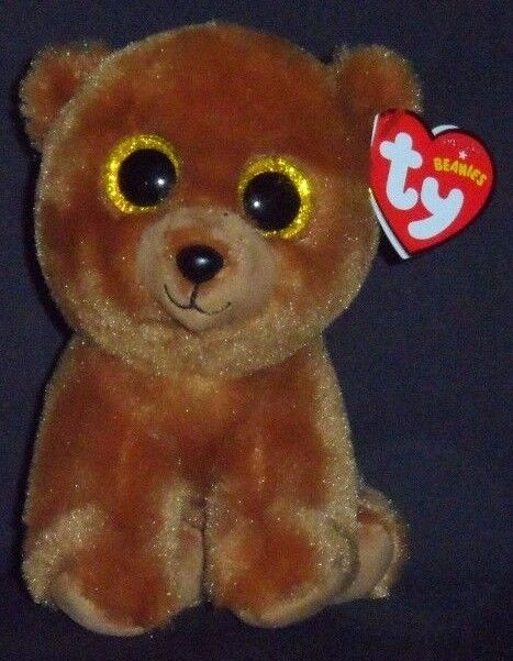 TY BROWNIE the BROWN BEAR BEANIE BABY - MINT with MINT TAG