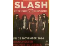 Slash promo poster Manchester 2014 only 3 made guns n roses