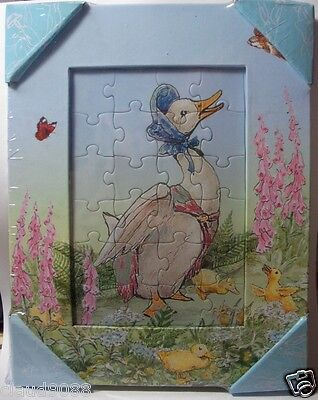 """BEATRIX POTTER  """"JEMIMA PUDDLE-DUCK JIGSAW / PICTURE FRAME"""" A24146 MINT IN WRAP"""