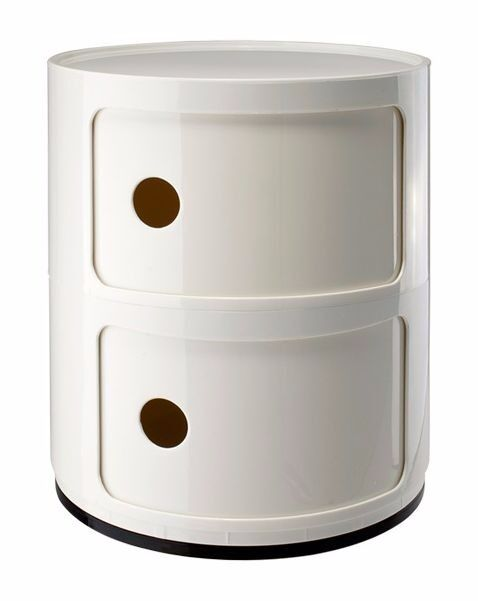 Next Kids Retro Style White Round Bedside Table