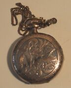 Antique Sterling Silver Watch Chain
