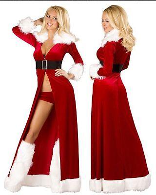 Weihnachtsfrau Kostüm  Miss Santa Mantel Weihnachtskostüm (Damen Miss Santa Kostüme)