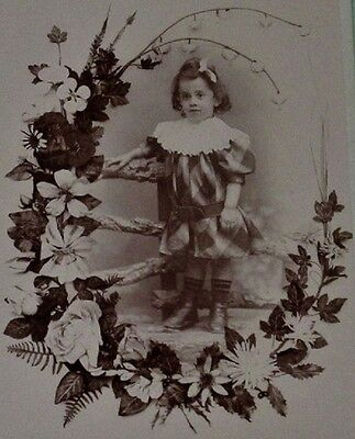 MEMORIAL CABINET CARD YOUNG FRENCH GIRL~REMEMBRANCE~MOURNING~POST MORTEM~CHILD
