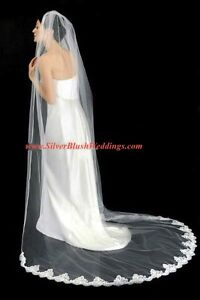 NEW! Soft Chapel Veil Mantilla Lace on Bottom Edge Ivory White