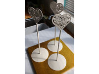 Wedding Table Decorations - Table number holders