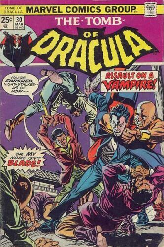 TOMB OF DRACULA #30 VG/F, Gene Colan art, Marvel Comics 1975 Stock Image