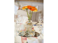 Wedding Table Decorations and Centrepieces (bottles)