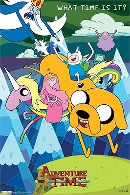 Cartoon Network Adventure Time What Time Is It Poster 22x34 Free Shipping