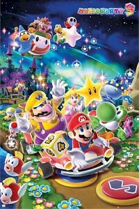 SUPER-MARIO-POSTER-9-PARTY-MUSHROOM-KINGDOM-22x34-Brothers-Video-Game-Nintendo
