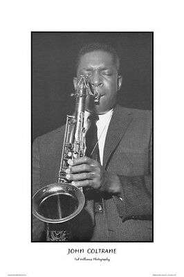 JOHN COLTRANE ~ TED WILLIAMS 24x36 MUSIC POSTER Jazz Saxophone Photography