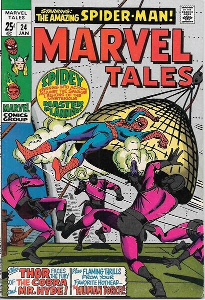 Marvel Tales Comic Book #24 Marvel Comics 1970 FINE+