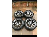 "19"" 5x110 Genuine Alfa Romeo 159 Brera Ti Giulietta Alloy Wheels Alloys Tyres"