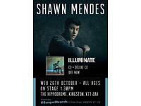 Shawn Mendes Intimate Gig 26/10 1.30pm Hippodrome Kingston London