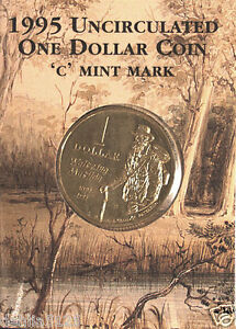 1995 $1 Waltzing Matilda Mint Mark 'C' UNCIRCULATED