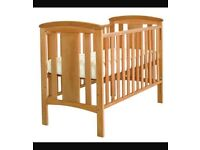 Brand new Katie 2 drop side cot and mattress