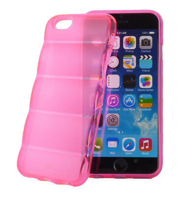 Silikon Case Barrel Style hot pink transparent für Apple iPhone 6 (4,7