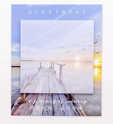 Photography Post It Memo Pad Waters Birds Sunset Dock Pretty Photos